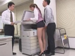 Hot duties of young Asian secretaries include satisfaction of their colleagues during the whole workday