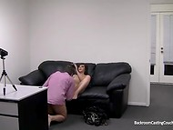Cute brunette came to the interview to get a job, but instead of job she gets assfucked hard